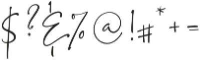 BlushSociety Script otf (400) Font OTHER CHARS