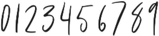 Blushed otf (400) Font OTHER CHARS