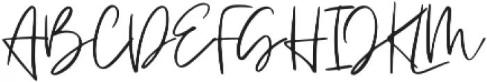 Blushed otf (400) Font UPPERCASE