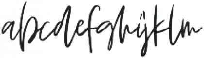 Blushed otf (400) Font LOWERCASE