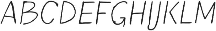 Blushes Light Italic otf (300) Font UPPERCASE