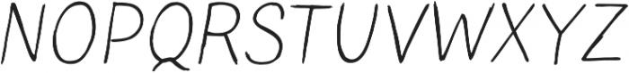 Blushes Light Italic ttf (300) Font UPPERCASE