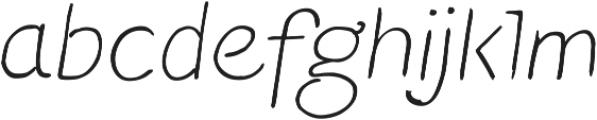 Blushes Light Italic ttf (300) Font LOWERCASE