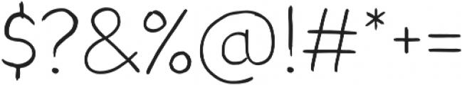 Blushes Light otf (300) Font OTHER CHARS