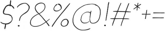Blushes Thin Italic otf (100) Font OTHER CHARS