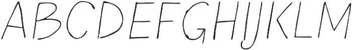 Blushes Thin Italic otf (100) Font UPPERCASE