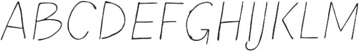 Blushes Thin Italic ttf (100) Font UPPERCASE