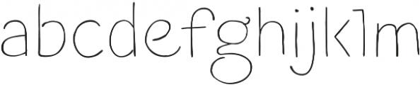 Blushes Thin otf (100) Font LOWERCASE