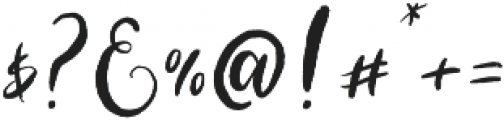 Blushing Script Solid otf (400) Font OTHER CHARS