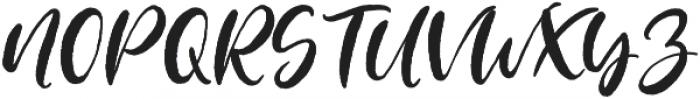 Blushing Script Solid otf (400) Font UPPERCASE