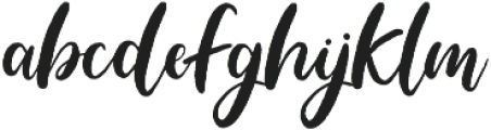 Blushing Script Solid otf (400) Font LOWERCASE