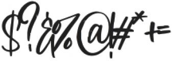 Blushon Regular otf (400) Font OTHER CHARS
