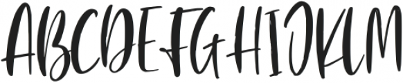 Blushon Regular otf (400) Font UPPERCASE