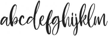 Blushon Regular otf (400) Font LOWERCASE
