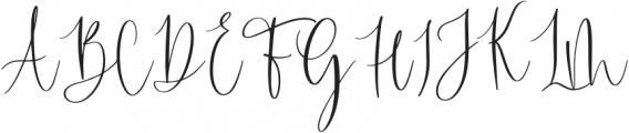 Blushyland-Regular otf (400) Font UPPERCASE