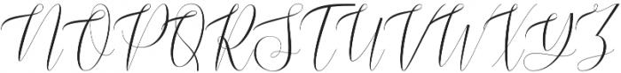 Blussafir Regular otf (400) Font UPPERCASE