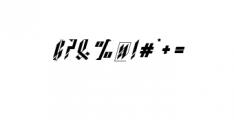Blackburn Font OTHER CHARS