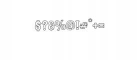 Blastrick Normal Outline.ttf Font OTHER CHARS