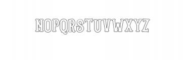 Blastrick Normal Outline.ttf Font UPPERCASE