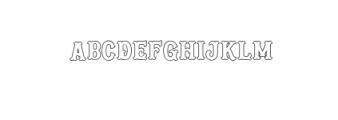 Blastrick Normal Outline.ttf Font LOWERCASE