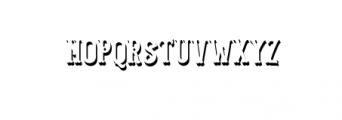 Blastrick Normal Shadow.ttf Font UPPERCASE