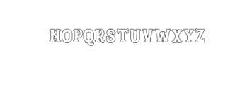 Blastrick Specia Shadow.ttf Font LOWERCASE