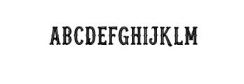 Blastrick Special Inline.ttf Font UPPERCASE
