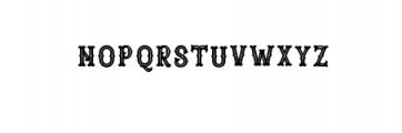 Blastrick Special Inline.ttf Font LOWERCASE