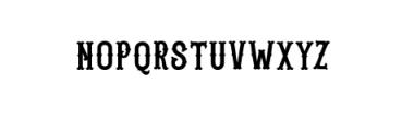 Blastrick Special.ttf Font UPPERCASE