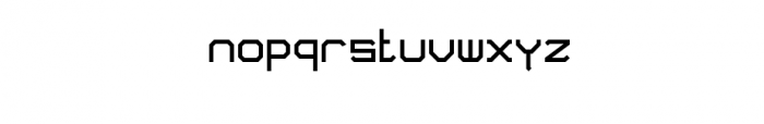 Blok Font LOWERCASE