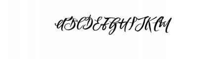 Blomming-Regular.otf Font UPPERCASE
