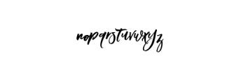Blomming-Regular.otf Font LOWERCASE