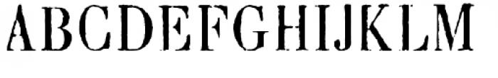 Blackburn Font UPPERCASE