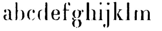 Blackburn Font LOWERCASE