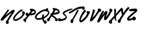 Bleedblob BTN Font UPPERCASE