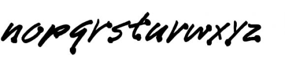 Bleedblob BTN Font LOWERCASE