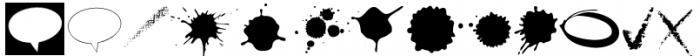 Blobs Brush Strokes & Balloons Font UPPERCASE