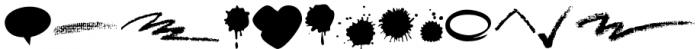 Blobs Brush Strokes & Balloons Font LOWERCASE