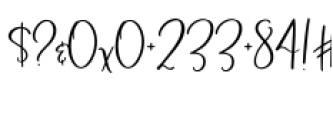Blush & Bloom Regular Font OTHER CHARS