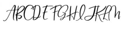Blush & Bloom Slanted Font UPPERCASE