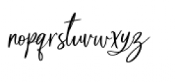 Blush & Bloom Slanted Font LOWERCASE