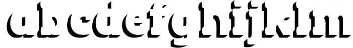 BLACKY Typeface 1 Font LOWERCASE