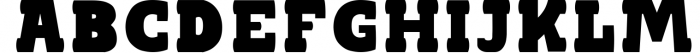 BLACKY Typeface Font UPPERCASE