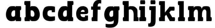 BLACKY Typeface Font LOWERCASE
