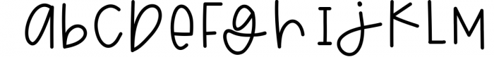 Blackberry - A Fun & Mismatched Font Font LOWERCASE