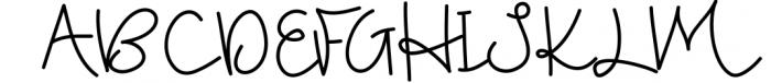 Blushed - A Cute Handwritten Script Font UPPERCASE