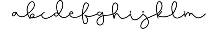 Blushed - A Cute Handwritten Script Font LOWERCASE
