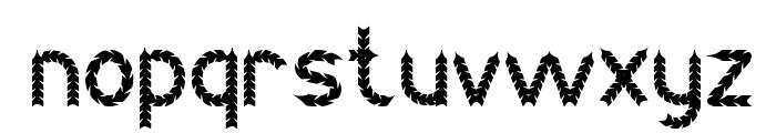 BLACK ARROW Font LOWERCASE