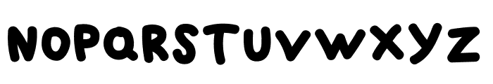 BLACK BUBBLE Font UPPERCASE