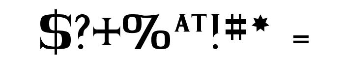 BLACK KNIGHT Regular Font OTHER CHARS